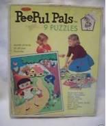 Rare Peepul Pals Dolls Vintage Puzzles Set in Box  - $24.95