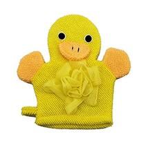 Cute Cartoon Baby Bath sponge Gentle Exfoliating Bath Glove (Yellow)