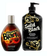 INSANELY BLACK Hot Tingle 60X Dark Tanning + SOLID BLACK TAN EXTENDER Mi... - $39.95