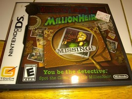 Mystery Case Files: MillionHeir (Nintendo DS, 2008) Brand New Sealed Free Ship - $9.20