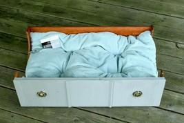 "Re-purposed Chalk Grey Antique Dresser Drawer Dog / Cat Bed 30"" x 18"" x 8"" - $148.93"