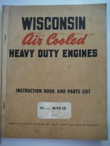 Wisconsin Engines vintage 1950s instruction manual & ill. parts list model MGV4D - $10.66