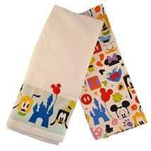 Disney Parks Mickey Mouse and Friends Colorful Kitchen Towel Set of 2 NEW - $47.51