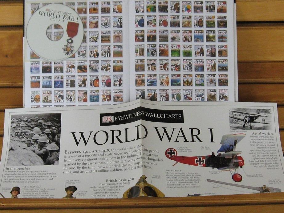 Hardcover Book World War I Clip Art Cd Dk Eyewitness Books