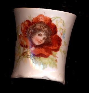 Primary image for Lovely Early White with Flower Girl Toothpick Holder