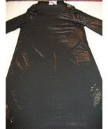 WOMEN DIANE GILMAN BLACK PARTY DRESS SMALL NWT LONG SLV - $23.99