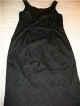 WOMEN MARIAGE BLACK EVENING DRESS SIZE 10 EMBOSSED - $19.99