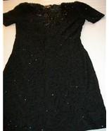 WOMEN LIFE & STYLE BEADED BLACK EVENING DRESS M MEDIUM - $17.99