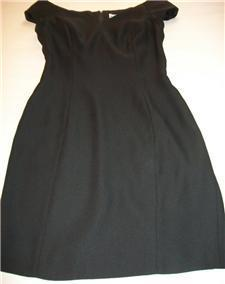 WOMEN REGGIO BLACK EVENING DRESS SIZE 4 Attention