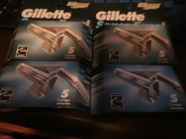 4 NEW PACKS OF GILLETTE SENSOR EXCEL 5 CARTRIDGES RAZOR BLADE SHAVE 20 B... - $22.00