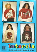 Knitting Patterns DOGS Westie Dalmation Retriever Child - $12.00