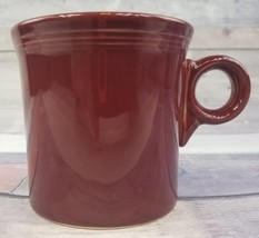 Fiesta Fiestaware Cinnabar Burgundy Cranberry Tom & Jerry Ring Handle Coffee Mug - $7.87