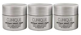 Clinique Smart Night Custom-Repair Moisturizer Dry/Combination Skin .5oz X 3 - $32.25