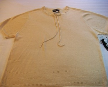 WOMEN SAG HARBOR GOLD KNIT TOP XL EXTRA LARGE NWT