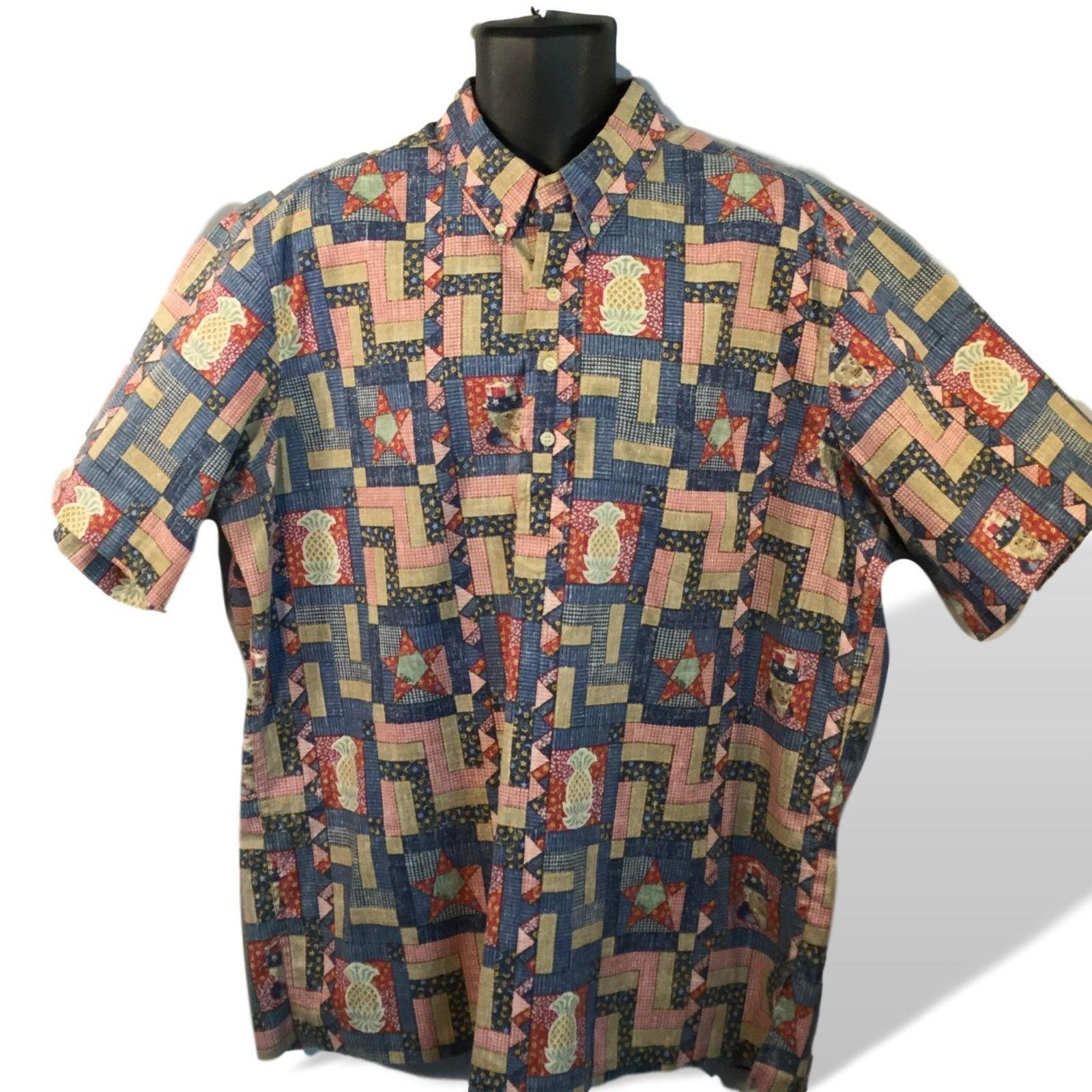 941f31997 Reyn Spooner Millennium 2000 Uncle Sam Hawaiian Shirt Reverse Print  Pullover 2XL - $73.76