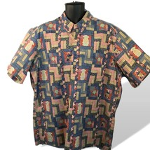 Reyn Spooner Millennium 2000 Uncle Sam Hawaiian Shirt Reverse Print Pull... - $73.76