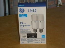 2 Pack GE LED 15 Watts Bright Stik Light Bulbs 1600 Lumens (2 Bulbs) - $19.79