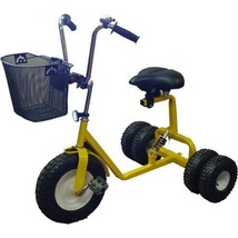 Dirt King DK-300-Y Adult Dually Step Thru Tricycle, Yellow - $948.00