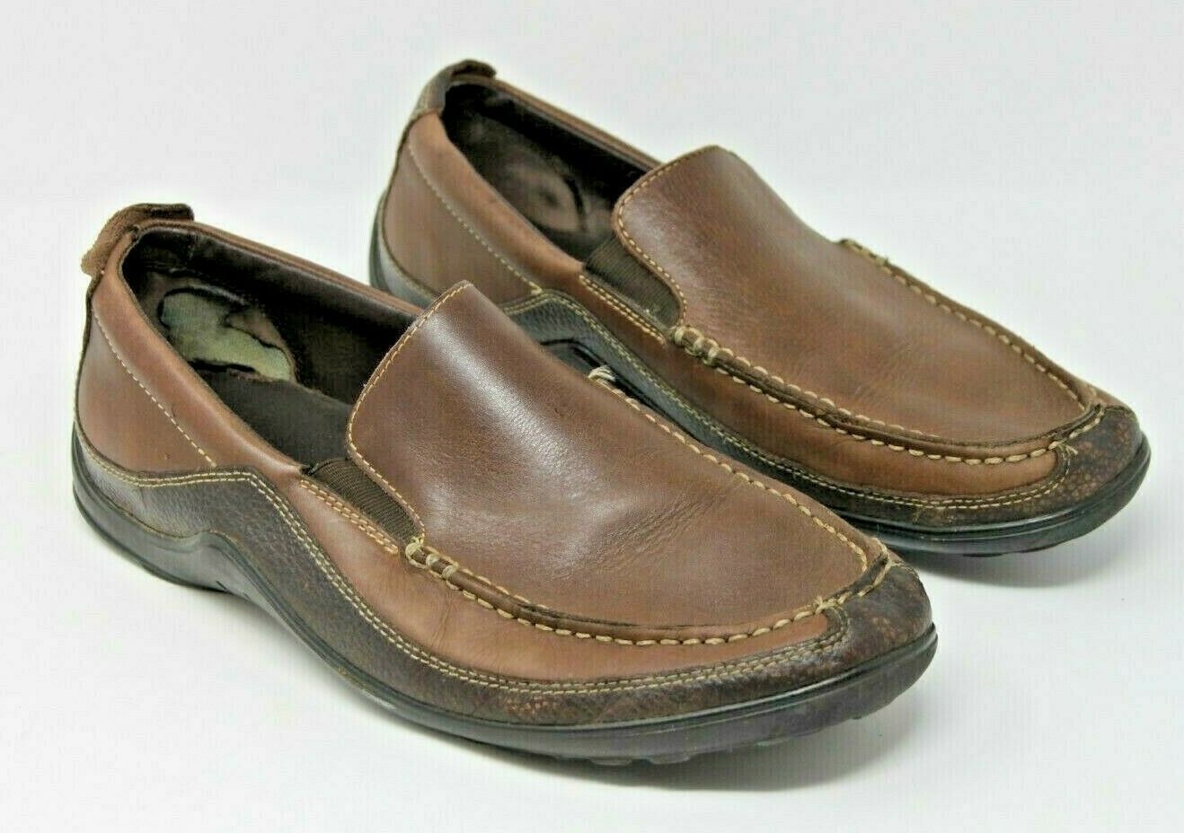 Cole Haan Size 10 W Brown C04059 Leather Slip Loafer Comfort Men's Shoes