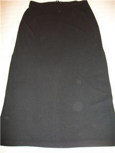 WOMEN LADIES TRACY EVANS LONG BLACK SKIRT SIZE13 MEDIUM LARG