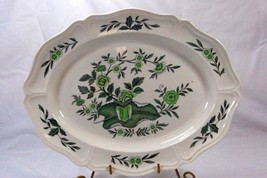 "Wedgwood 1949 Queens Shape Green Leaf #TK436 15 3/4"" Oval Platter - $27.71"