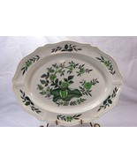 "Wedgwood 1949 Queens Shape Green Leaf #TK436 15 3/4"" Oval Platter - $25.19"