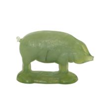 Vintage 1970's Green Glass Pig Hog Figurine Summit Art by Russell Vogels... - $29.99