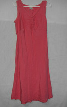 Motherhood Maternity Dress Empire Waist  Sleeveless Tie Back Linen size M - $13.21