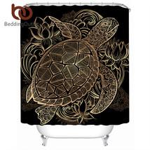 BeddingOutlet Golden Turtles Shower Curtain Animal Tortoise Waterproof B... - $32.90