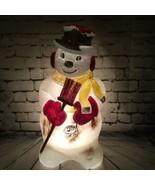 "POLORON 31"" Snowman Blow Mold With Broom 1960's Lighted Christmas Decor ... - $118.79"