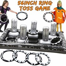Giant Tombstone Ring Toss Games Halloween Party Game Favors - $33.50