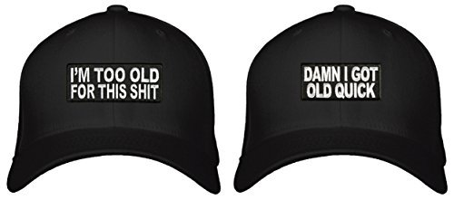 Grandpa Hat Gift Pack (2) Funny Adjustable Snapback Caps