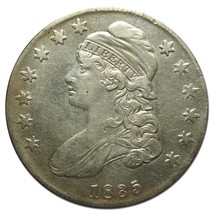 1835 Capped Bust Half Dollar 50¢ Coin O-105 Overton Lot# EA 200