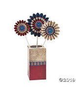 Cardboard Pinwheel Americana Table Top Centerpiece Patriotic Decor Red W... - £6.23 GBP