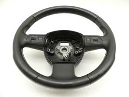 2007 8P Audi A3 Three 3 Spoke Leather Multifunction Steering Wheel Factory -822 - $69.30