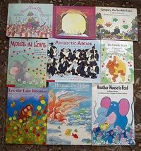9 Jose Aruego and Ariane Dewey books Leo the Late Bloomer, Robert Kraus - $9.99