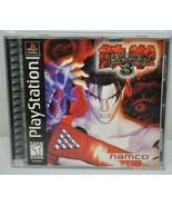 Tekken 3 Namco Sony Playstation 1 PS1 Black Label - Perfect Disc - Crack... - $48.49