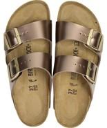Birkenstock Womens Arizona Electric Metallic Taupe Brown Casual Sandals ... - £85.50 GBP