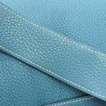 HERMES Lindy 34 Taurillon Clemence Blue Jean Handbag Shoulder Bag #Q Authentic image 9