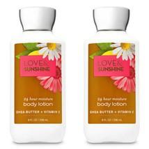 Bath & Body Works Love and Sunshine Shea & Vitamin E Lotion 8 oz Set - $24.75