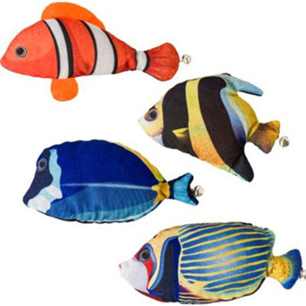 Ethical Assorted Nice Catch Fish W/catnip Cat Toy 5in 077234520895