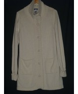 Patagonia Ivory Womens Cashmere Long Button Front Cardigan Sweater Size ... - $56.09