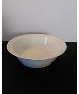Round Ivory Fruit Bowl, Vintage - $13.00
