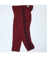New Adidas Men's Snap Athletic Track Pants Burgundy Red 2XL MSRP $60 - $46.74