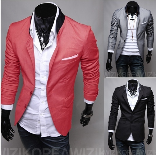 2018 New Men's Dress Suit Classic Casual Man Suits Korean Design Slim Fit Blazer