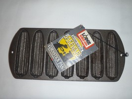 Lodge Cast Iron Corn Stick Pan 7 Cavity New With Tags Made in USA - $23.01