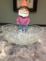 ANCHOR HOCKING STAR MEDALLION CAMEO GLASS SERVING BOWL - $5.99
