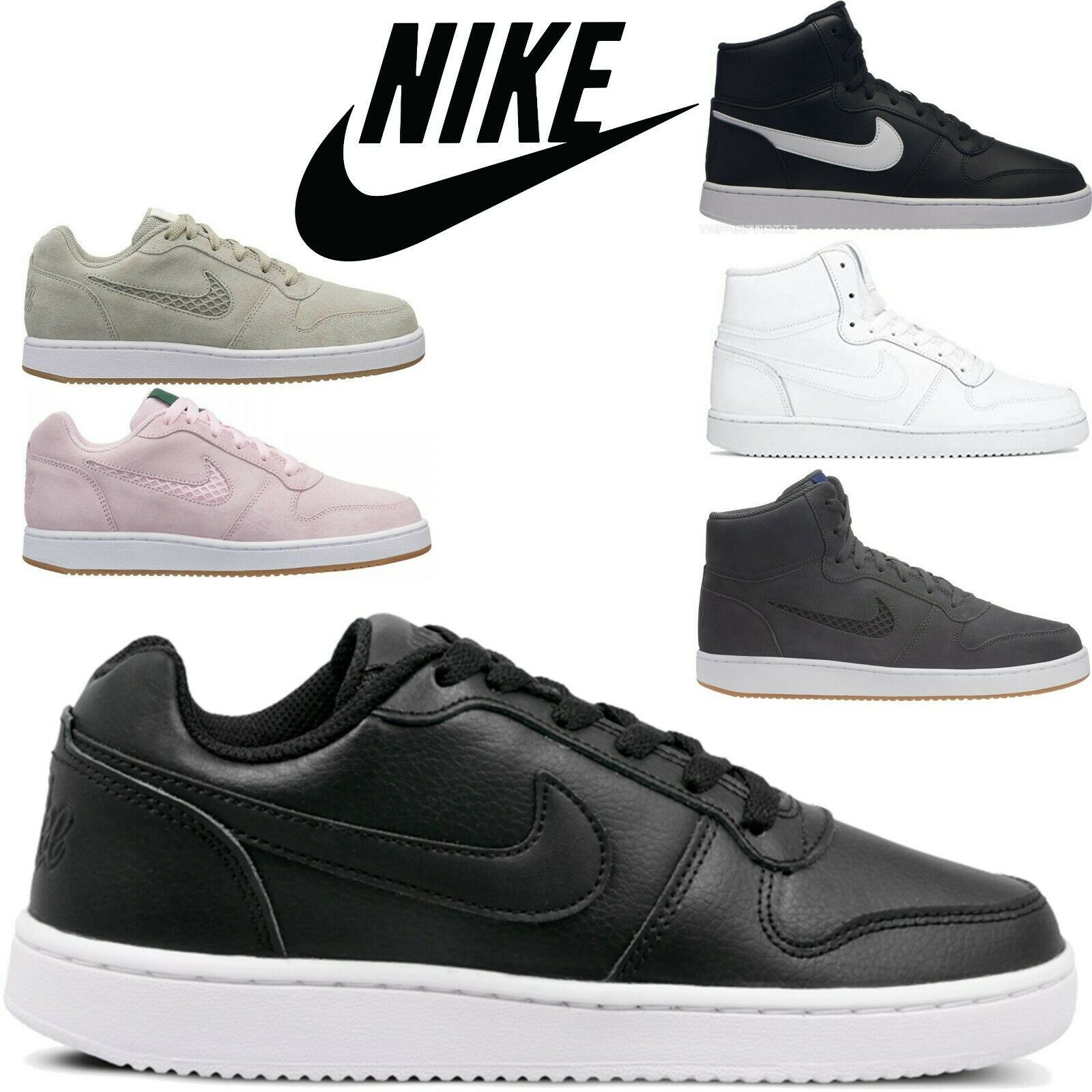 Nike Ebernon MID / LO Sports Shoes Sneakers Trainers - All Colors And Sizes