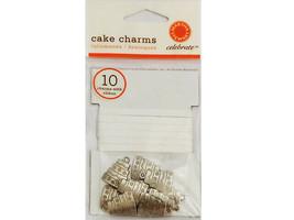 Martha Stewart Cake Charms w/Ribbon, 10 Count image 1