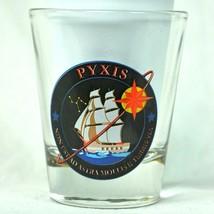 Pyxis OSL Office of Space Launch Shot Glass Non est ad astra mollis e te... - $24.07